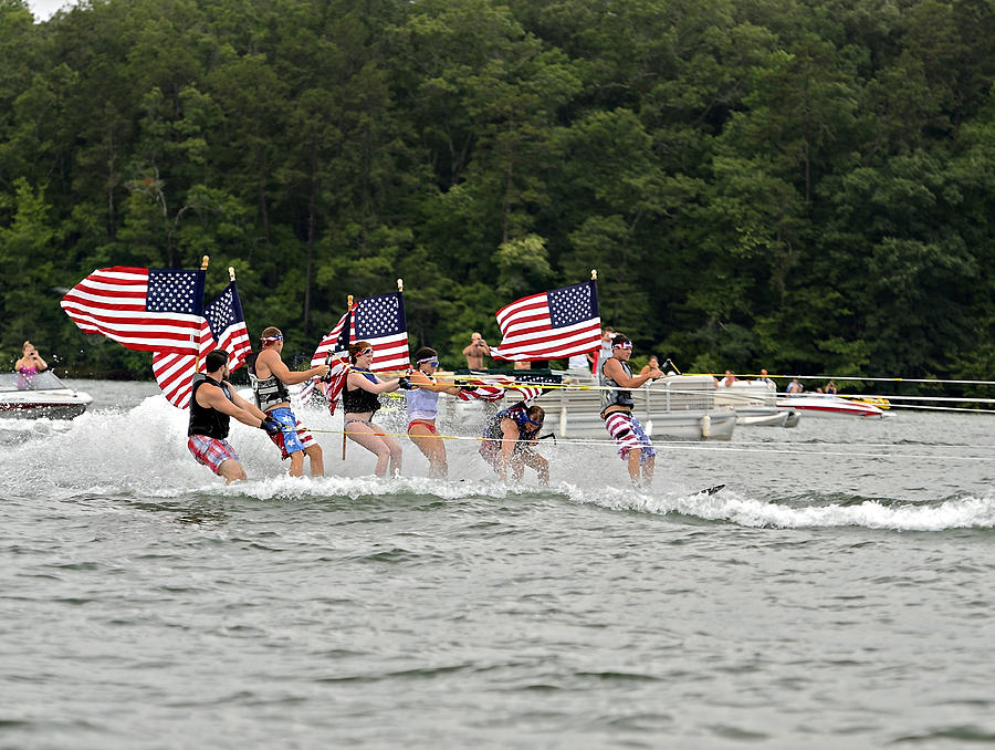 Fourth Photograph - Fourth Of July On The Lake by Susan Leggett