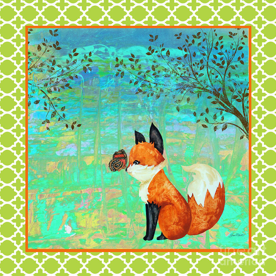 Water Color Painting - Fox-d by Jean Plout