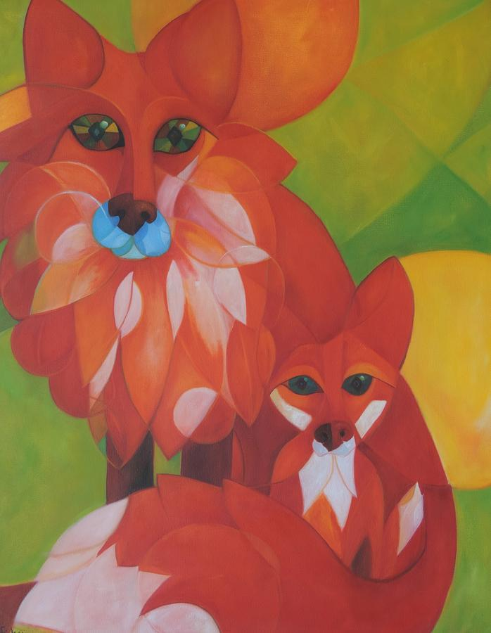 Wildlife Painting - Fox Haven by Denise Fisher