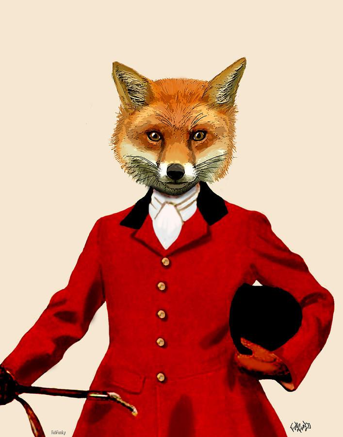 Hunter Posters Digital Art - Fox Hunter 2 Portrait by Kelly McLaughlan