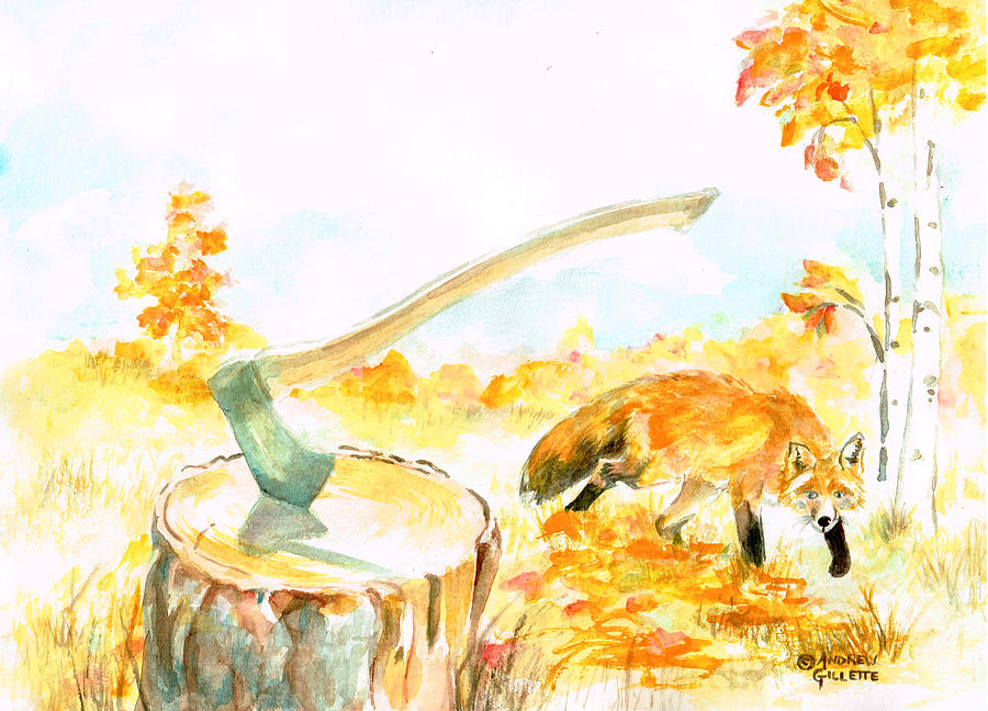 Fox in Autumn by Andrew Gillette
