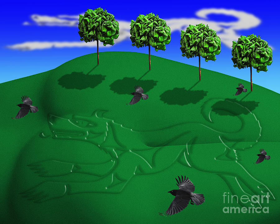 Surreal Landscape Digital Art - Fox Mound by Keith Dillon