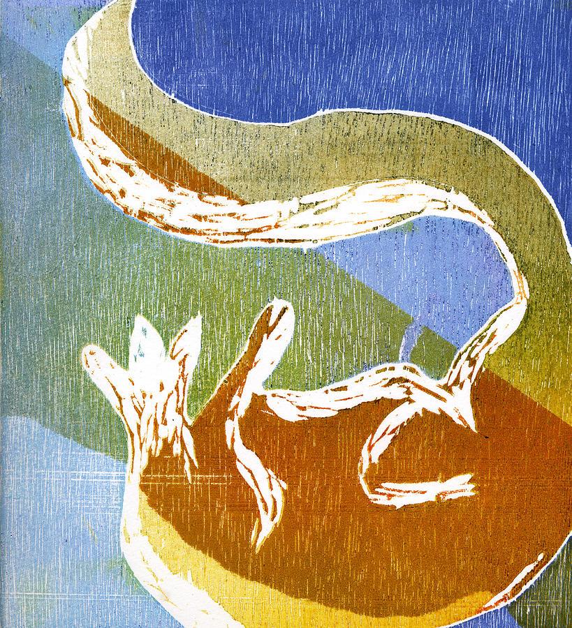 Fox Painting - Fox Roll by Rebecca Bourke