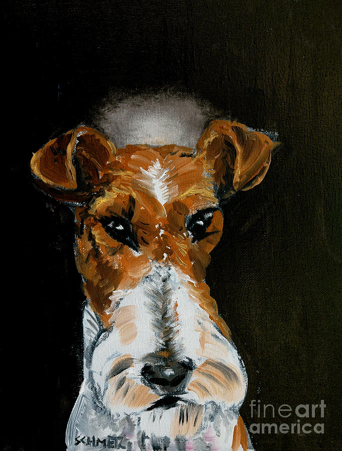 Fox Terrier Painting - Fox Terrier Angel by Jay  Schmetz