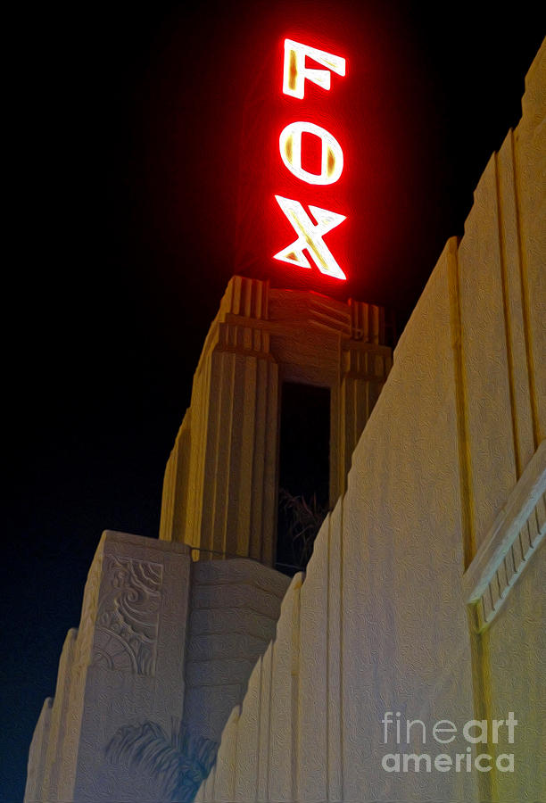 Fox Theater Photograph - Fox Theater - Pomona - 02 by Gregory Dyer