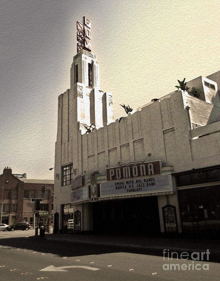 Fox Theater Photograph - Fox Theater - Pomona - 05 by Gregory Dyer