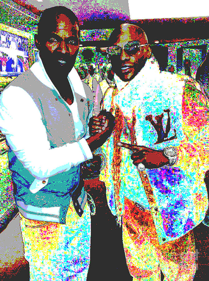 Jamie Foxx Digital Art - Foxx And Mayweather by Bryan Eaton