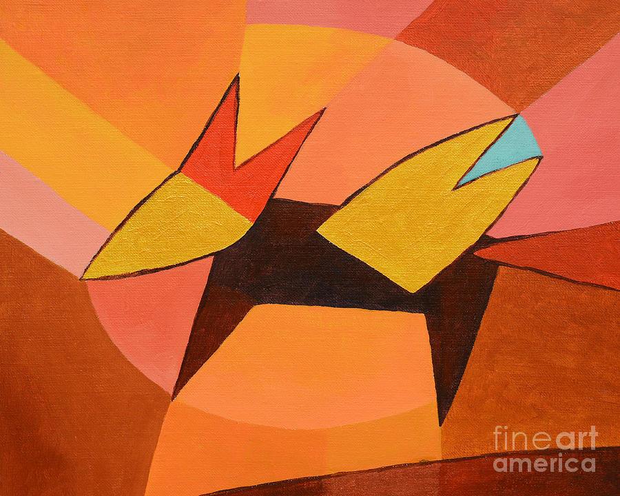 Foxy Painting - Foxy by Lutz Baar