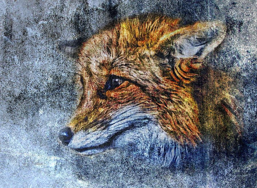 Fox Digital Art - Foxy by Yury Malkov