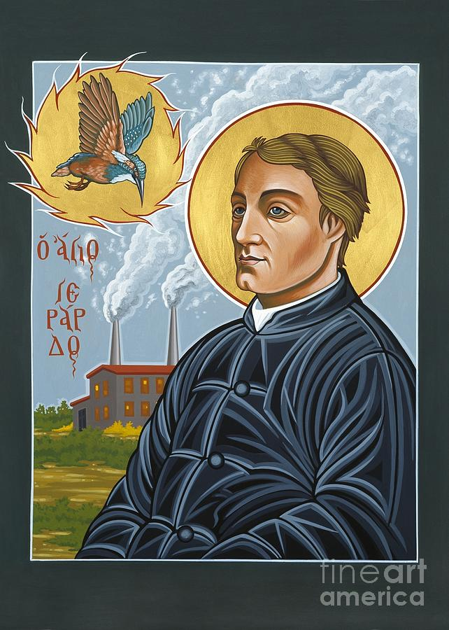 Poetry Painting - Fr. Gerard Manley Hopkins The Poets Poet 144 by William Hart McNichols