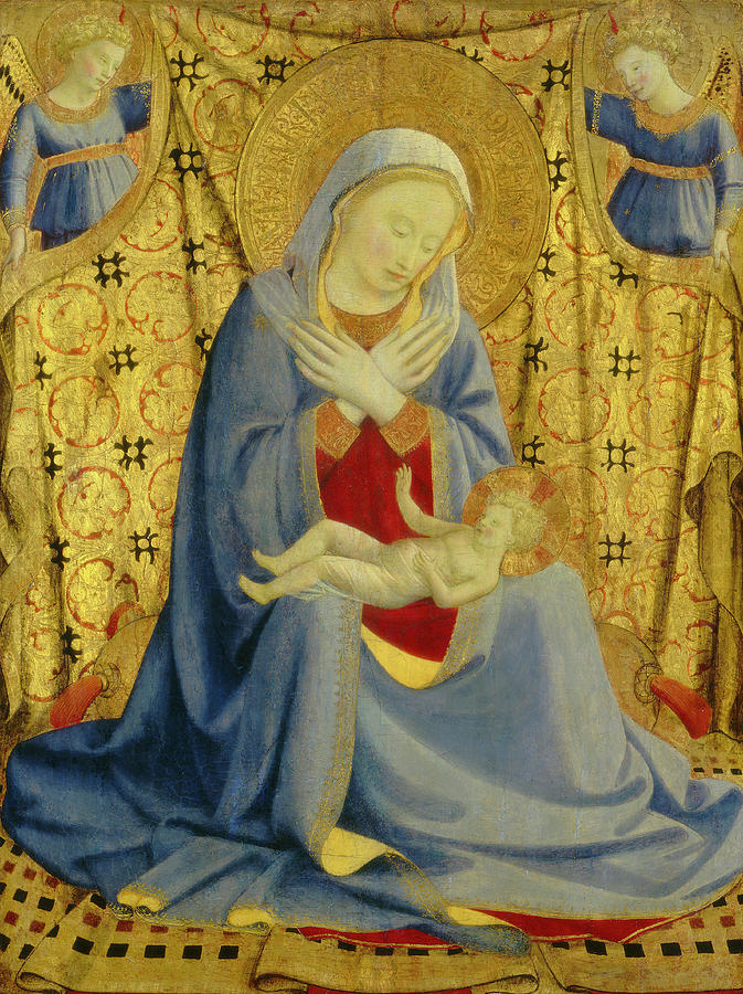 Fra Drawing - Fra Angelico, The Madonna Of Humility, Italian by Quint Lox