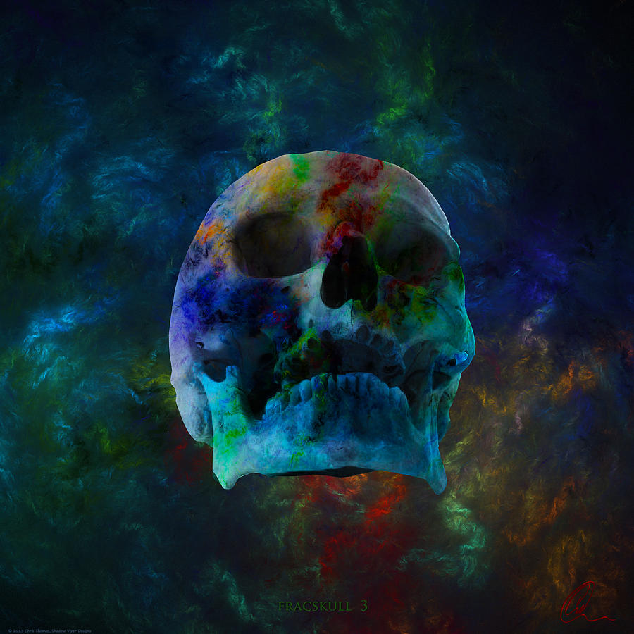 Skull Digital Art - Fracskull 3 by Chris Thomas