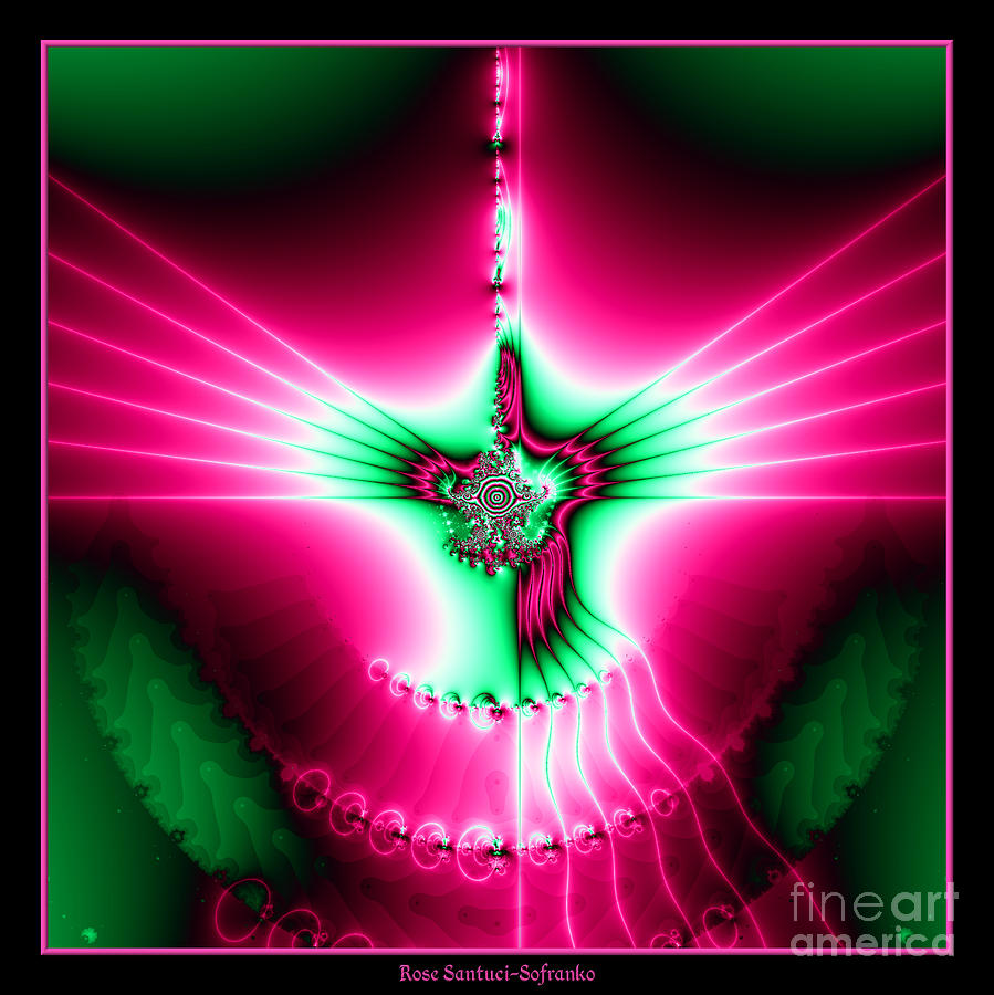 Holy Spirit Digital Art - Fractal 11 Holy Spirit by Rose Santuci-Sofranko