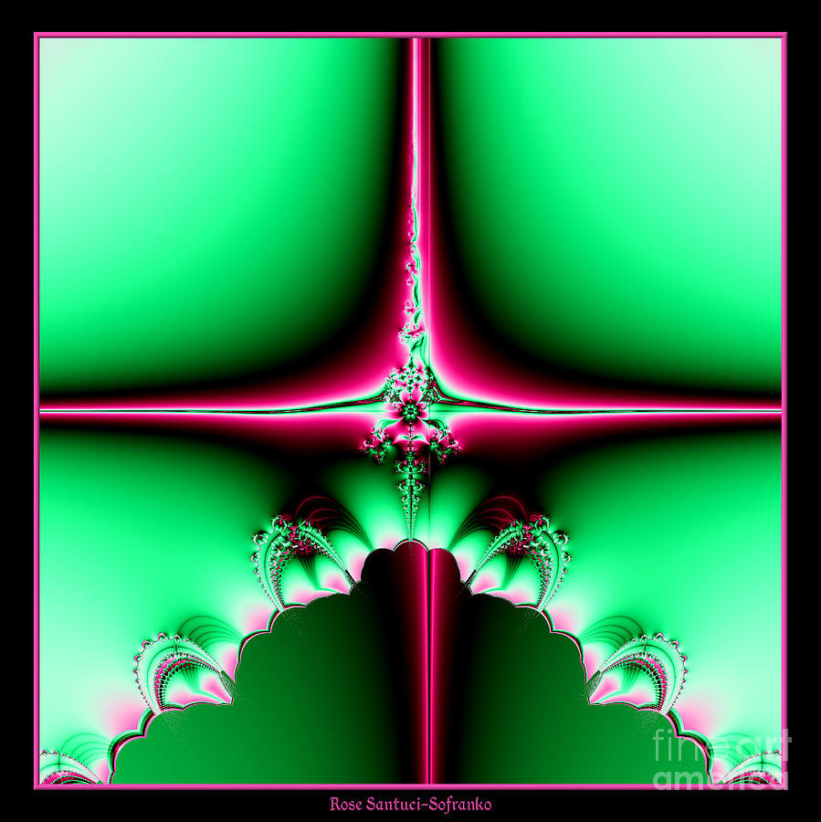 Star Of Bethlehem Digital Art - Fractal 14 Star Of Bethlehem  by Rose Santuci-Sofranko