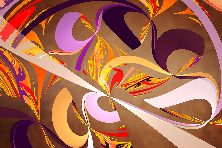 Abstract Digital Art - Fractal - Abstract - Space Time by Mike Savad