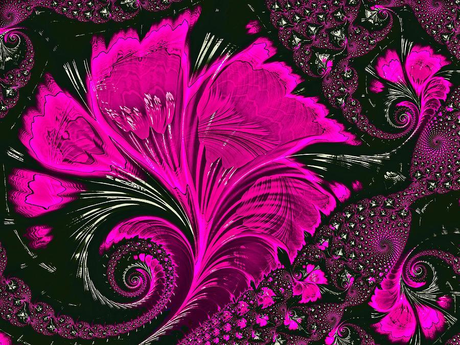 Fractal Digital Art - Fractal Flowers by HH Photography of Florida