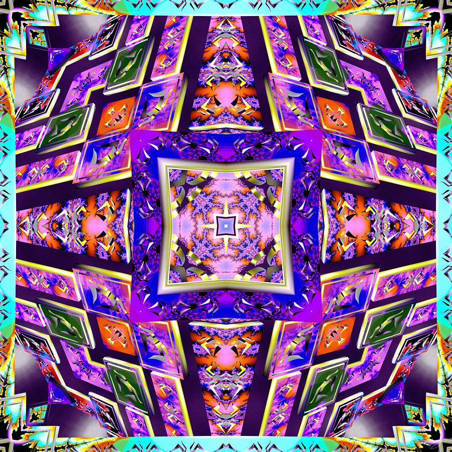 Sacred Digital Art - Fractal Ascension by Derek Gedney