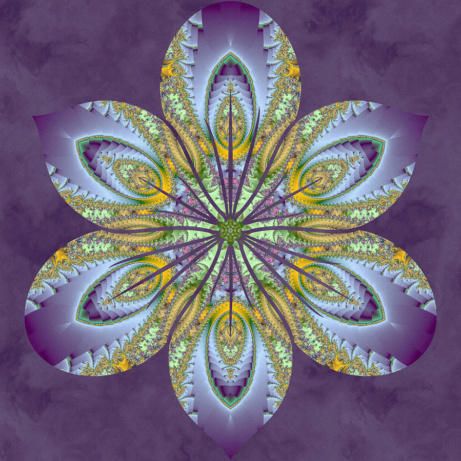 Sacredlife Mandalas Digital Art - Fractal Blossom by Derek Gedney