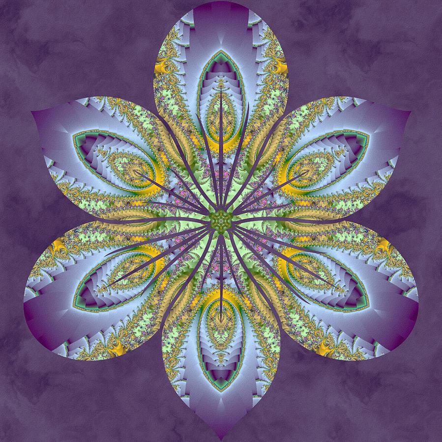 Sacred Digital Art - Fractal Blossom by Derek Gedney