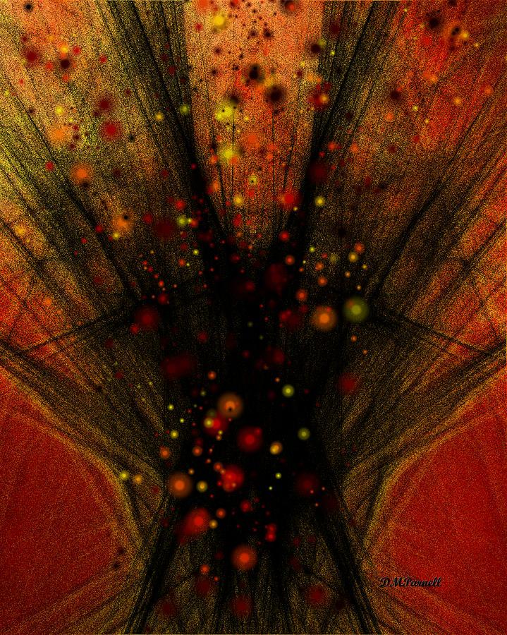 Fractal Digital Art - Fractal Bonfire by Diane Parnell