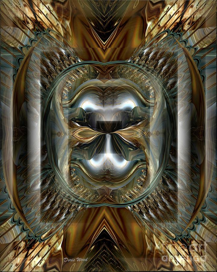 Fractals Digital Art - Fractal Display Number Eight by Doris Wood