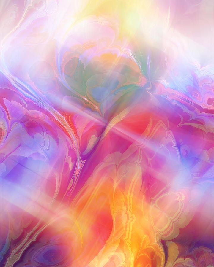 Abstract Digital Art - Fractal Dream by Ann Croon