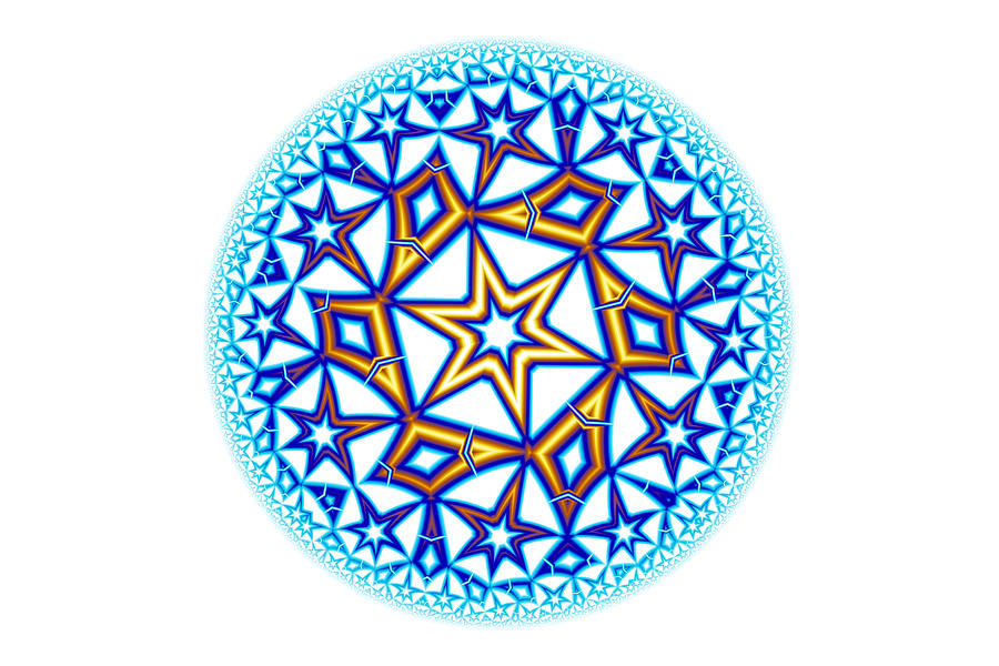 Fractal Escheresque Winter Mandala 1 Digital Art