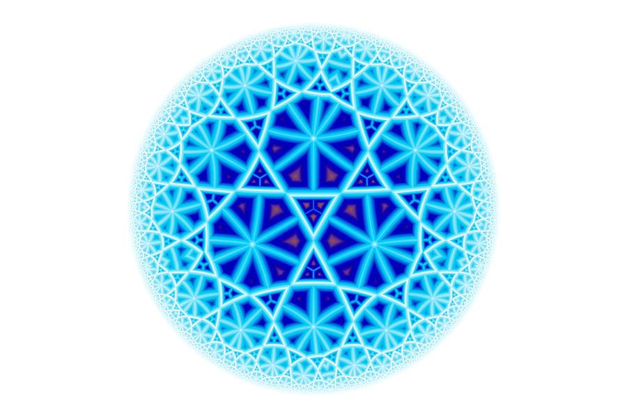 Fractal Escheresque Winter Mandala 4 Digital Art