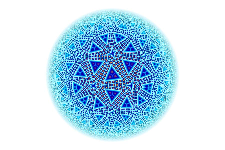 Fractal Escher Winter Mandala 5 Digital Art