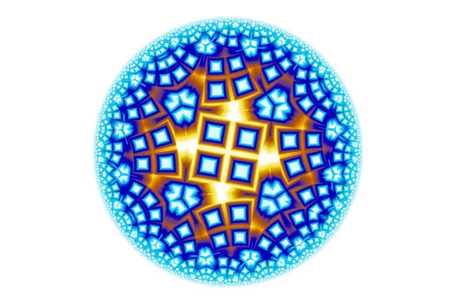 Fractal Escheresque Winter Mandala 9 Digital Art