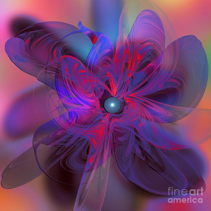 Flower Digital Art - Fractal Fantasy by Klara Acel