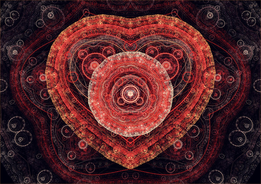 Fractal Heart Digital Art