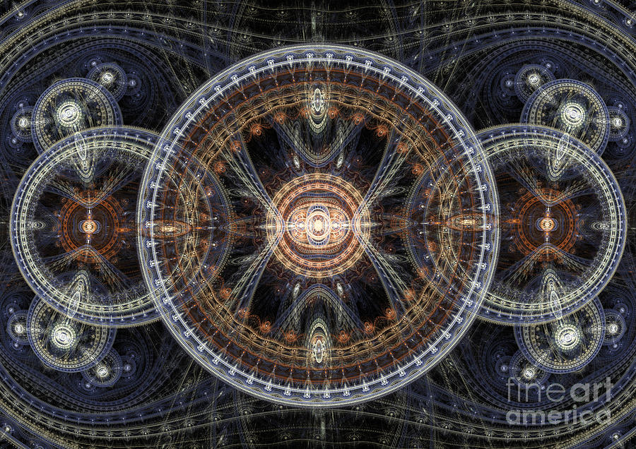 Abstract Digital Art - Fractal Inception by Martin Capek