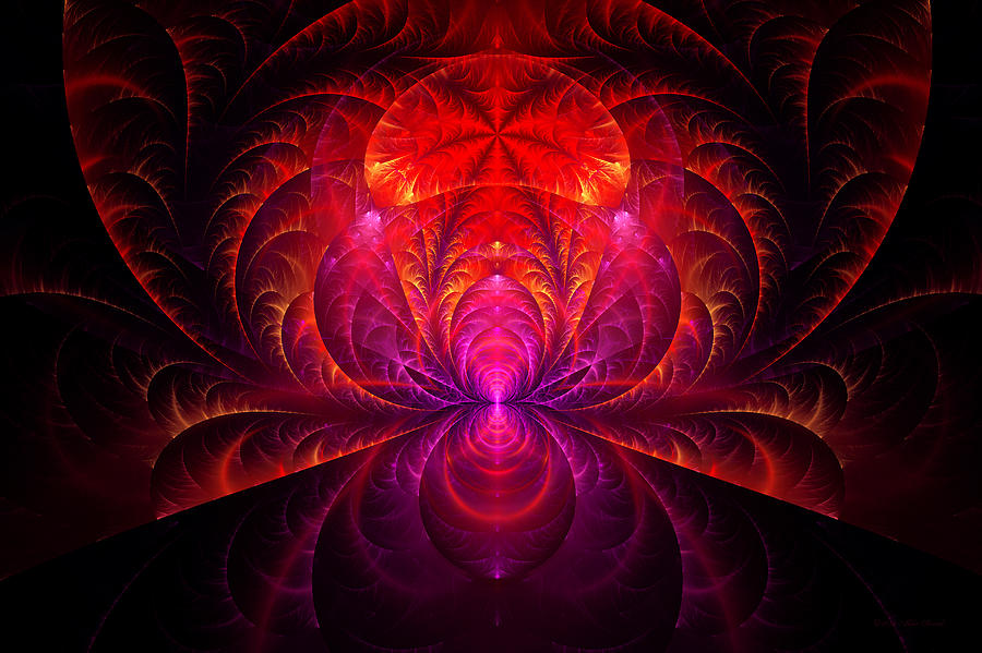 Abstract Digital Art - Fractal - Jewel Of The Nile by Mike Savad