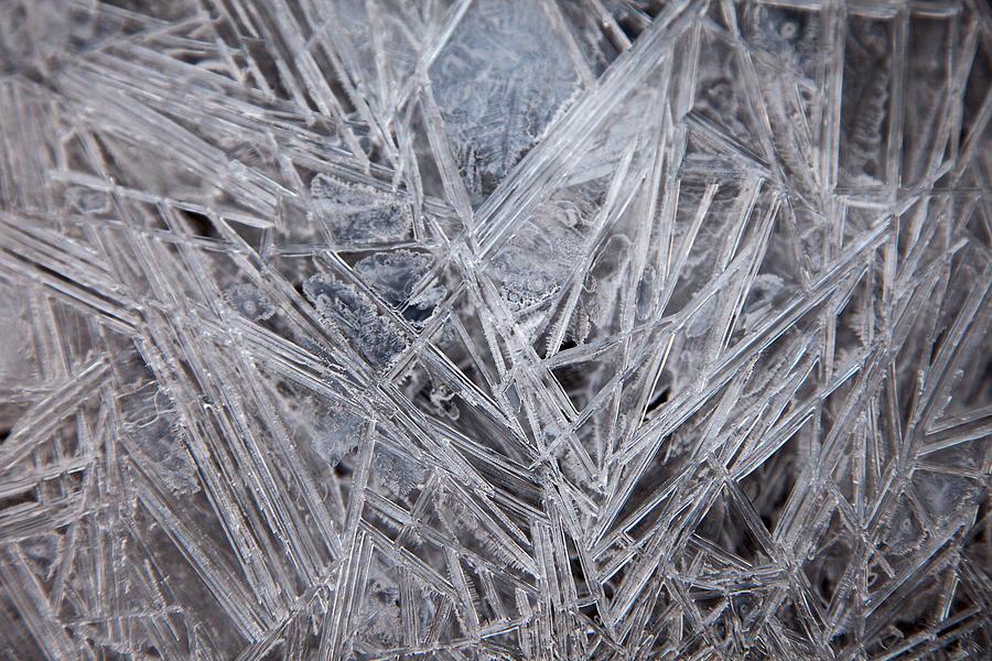 Ice Digital Art - Frozen Fractal by Leeon Photo