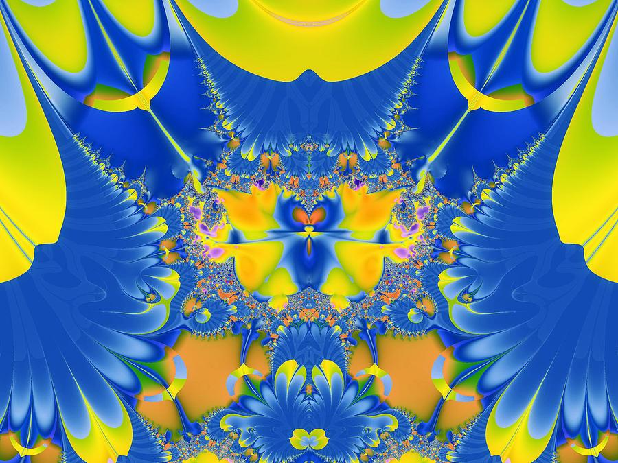 Abstract Digital Art - Fractal Owl by Ian Mitchell