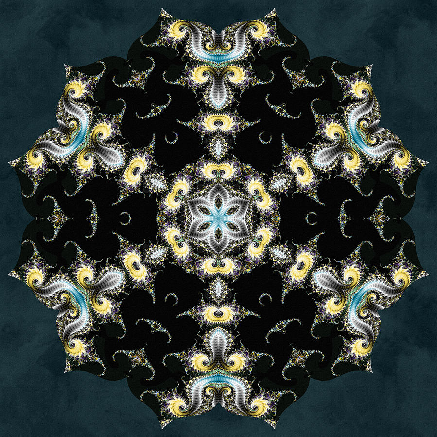Sacredlife Mandalas Digital Art - Fractal Seahorses by Derek Gedney