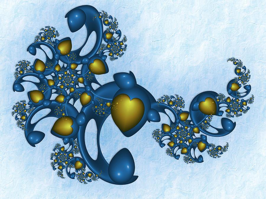 Fractal Digital Art - Fractal Tears Of Joy 2 by Gabiw Art