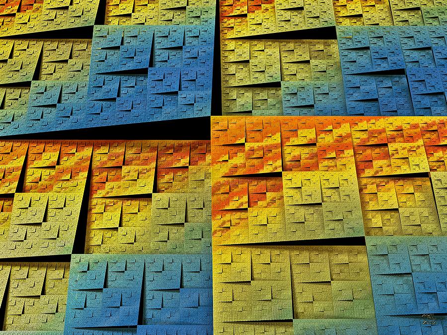 Abstract Digital Art - Fractal Tectonics by Manny Lorenzo