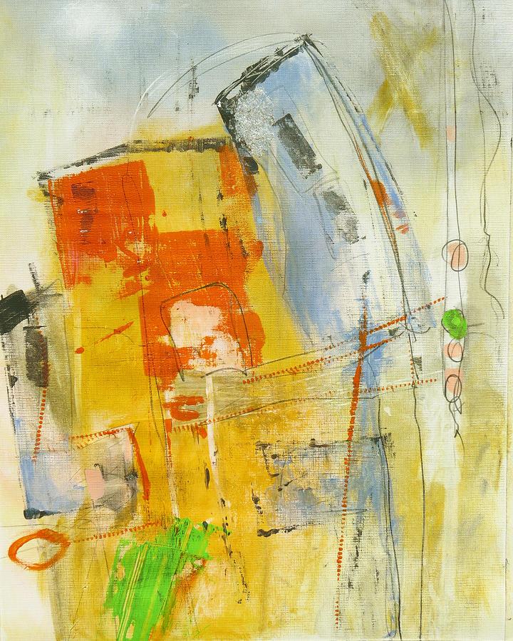 Katie Black Painting - Fragile by Katie Black