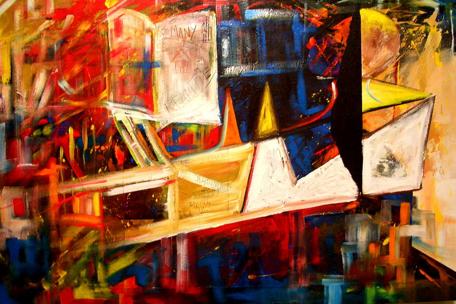 Abstract Painting - Fragmented Emancipation by Laurend Doumba