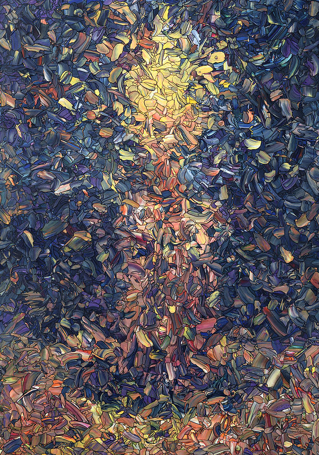 Candle Painting - Fragmented Flame by James W Johnson