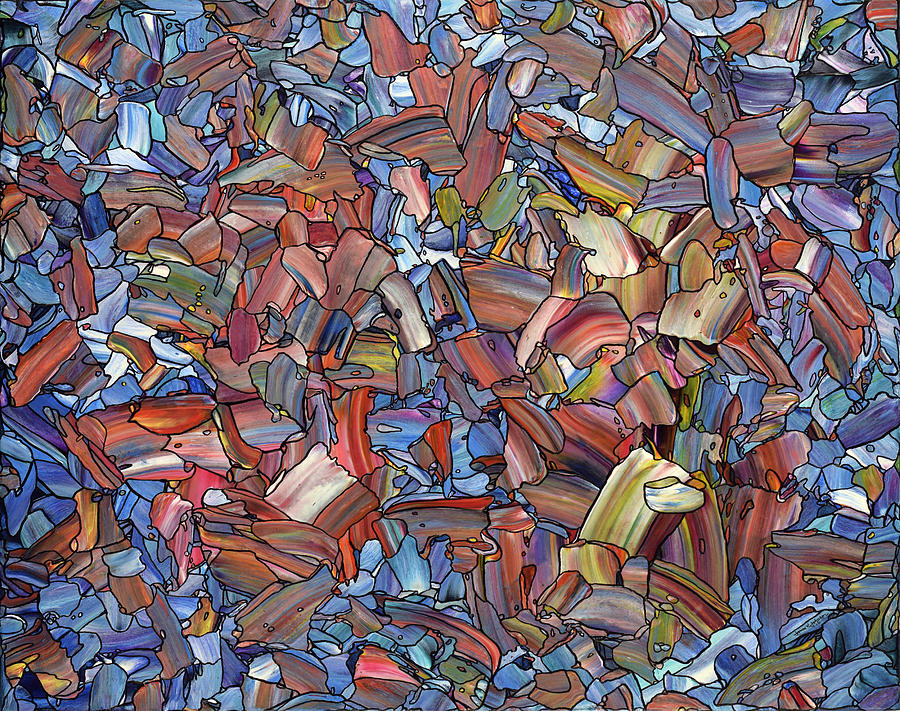 Abstract Painting - Fragmented Rose by James W Johnson