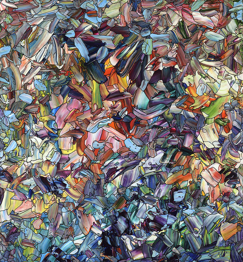 Abstract Painting - Fragmenting Heart by James W Johnson