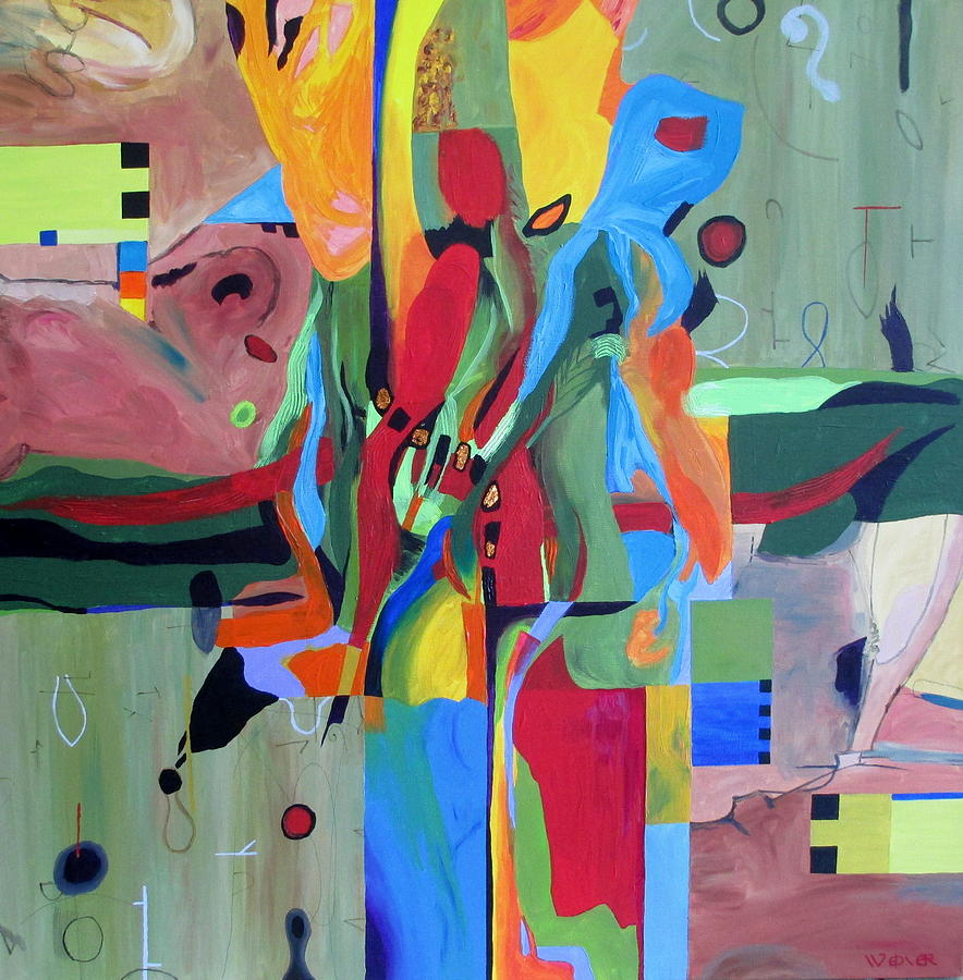 Abstract Painting - Fragments Number 10 Again by Randall Weidner