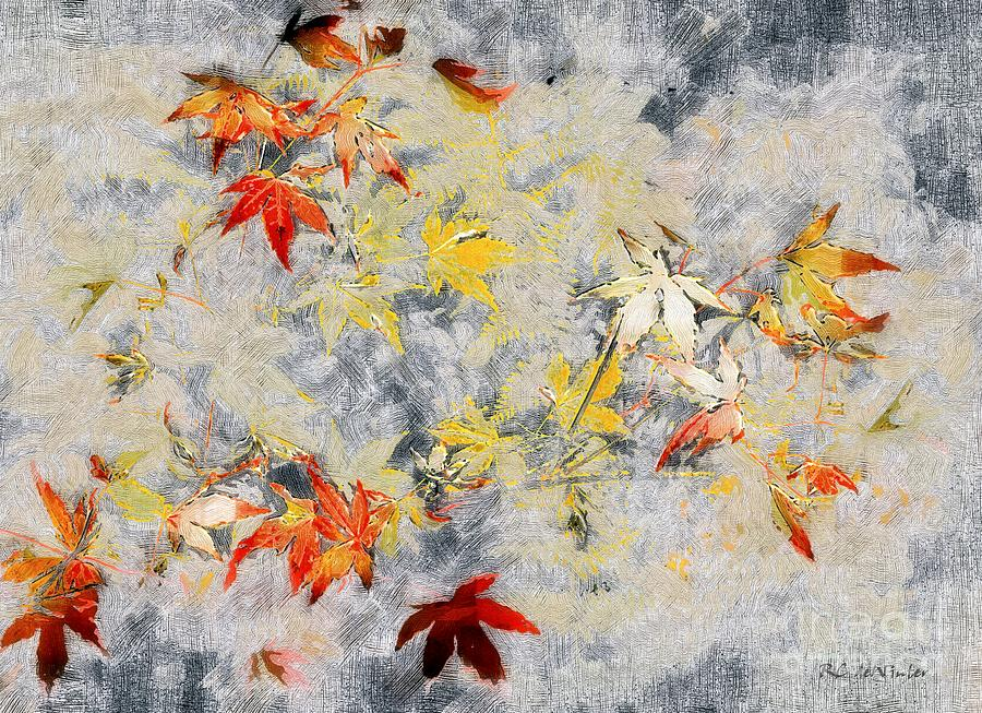 Ferns Painting - Fragments Of Fall by RC deWinter