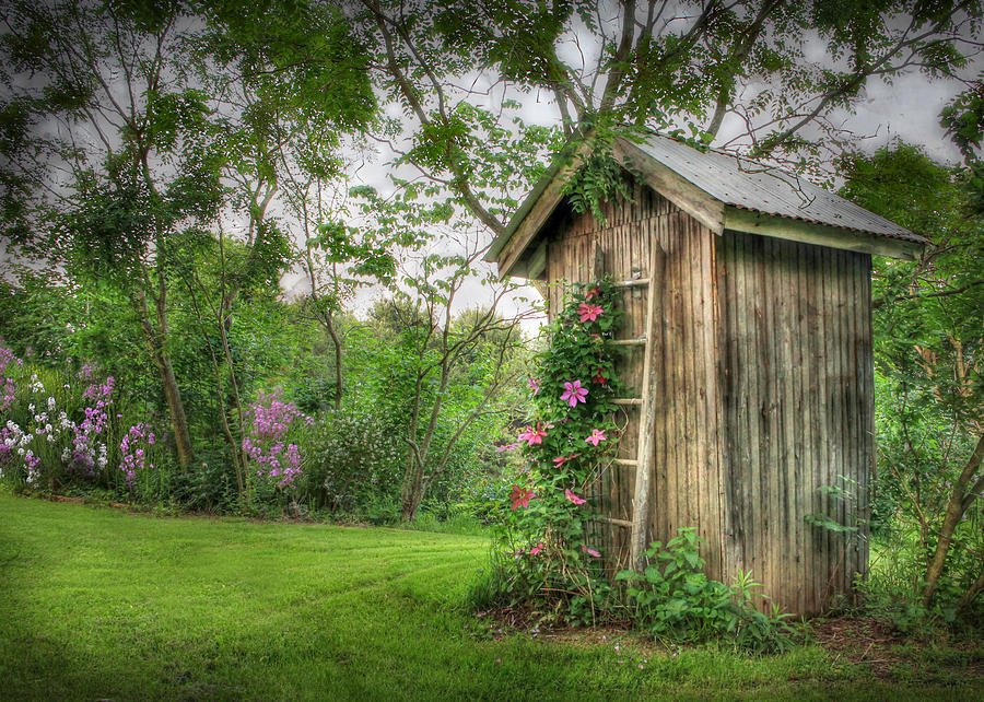 Outhouse Photograph - Fragrant Outhouse by Lori Deiter