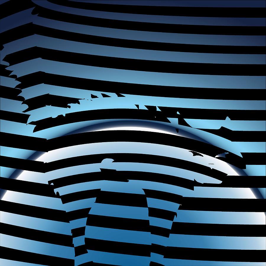Cat Digital Art - Fraidy Cat by Casino Artist
