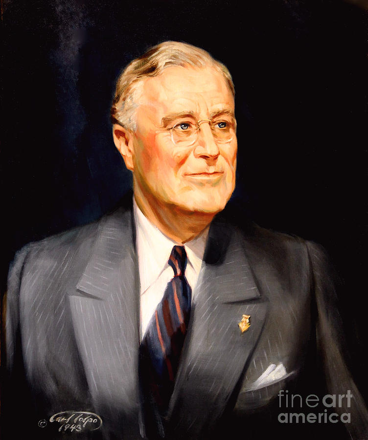 Franklin Delano Roosevelt Painting - Frainklin Delano Roosevelt by Art By Tolpo Collection