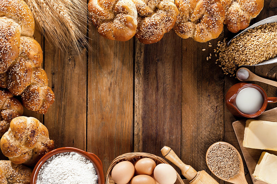 Frame Of Ingredients For Bread Photograph by Fcafotodigital